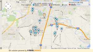 Map of Homes For Sale in Tualatin